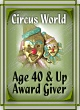 Circus World Age 40 & Up Award Giver Listing Badge-Closed-Unlinked